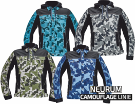Bunda s kapucí NEURUM CAMOUFLAGE