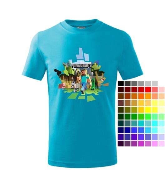 fa6c3089385 Tričko dětské MINECRAFT 2