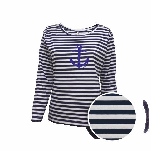 7bebca6a4d6 Dámské pruhované tričko s KOTVOU