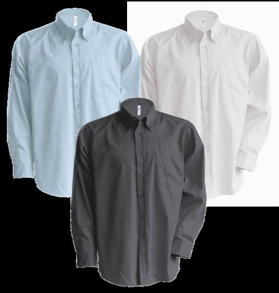 59b5b06b5b0 Pánská košile oxford s dlouhým rukávem