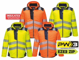PORTWEST HiVis budna do deště PW3™ XS - 6XL