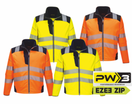 Bunda PORTWEST HiVis SOFTSHELL PW3™ XS - 6XL